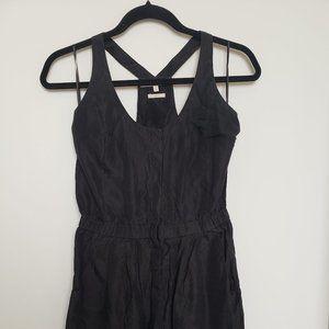 Monk + Lou Black 100% Silk Tank Dress XS